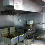 Mill Dam rest inside hood and fryers